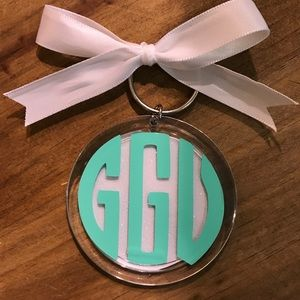 Cute custom monogram keychain
